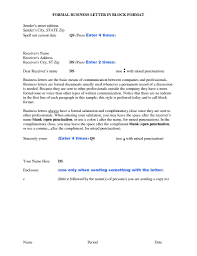 Letter Format Formal Business - Ne-Cs.org