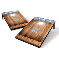 Verus Sports Glo Bright Light Up Bean Bag Toss Game Tailgate Toss Wood Brown College North Carolina Tar Heels
