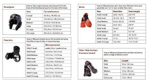 Century Sparring Gear Size Chart 51 Qualified Macho Sparring Gear Size Chart