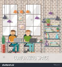 the creative office. Simple The Creative Office Elegant : 7686 Vector Illustration Coworking Space Working Place Stock Design F