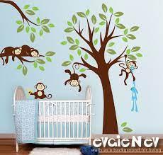 monkeys wall decals nursery wall decals