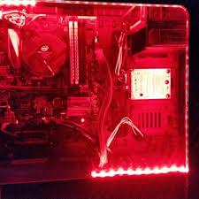Red Pc Case Lighting Us 1 18 31 Off Led Lights For Pc Case 5050 Smd Flexible Led Strip Light 12v Dc Background Pc Computer Case Adhesive Tape Light White Blue Red In Led