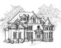 Blanchard House Plans   Home Plans By Archival DesignsBlanchard House Plan   Blanchard House Plan   Sketch