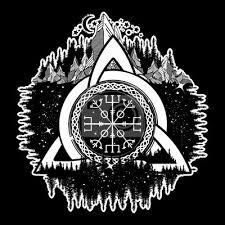 Fototapeta Keltský Trinitní Uzel Helm Of Awe Aegishjalmur Tetování Skandinávské
