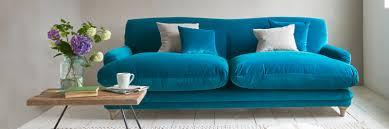 fabric sofas blue. Wonderful Blue Pudding Sofa In Blue Velvet Fabric On Fabric Sofas Blue