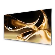 glass wall art abstract art black gold