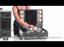 makeup cases rolling makeup case with lightirror