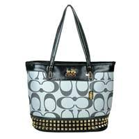 Cheap Coach Tanner Stud Medium Grey Totes DKM 20140811938