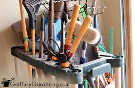 how to organize gardening tools supplies