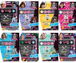 monster high makeup kit. choose child tv show doll monster high school girl costume makeup accessory kit