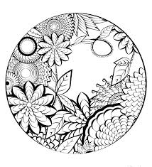 Mandala Coloring Pages Easy Pjlibraryradioinfo