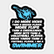 Swimming Quotes Unique I Am A Swimmer Funny Swimming Sports Quotes Tshirt Swimming Quotes