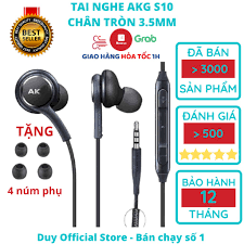 Tai nghe Samsung AKG S10 chính hãng S10 Plus S8, S9, Note 8, Note 9, S10+, Note  10 nguyên seal kèm 4 núm phụ chính hãng 35,000đ