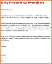 Salary Letters From Employer 11 Salary Increase Letter To Employer Statement Letter