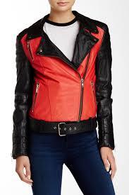 image of muubaa anda belted leather biker jacket