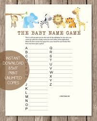 Boy Shower Games Letus Play The Name Game Boy Whats In Your Purse Baby Name Games For Baby Shower