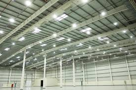 Warehouse Led Light Fixtures Commercial Warehouse Lighting At Schmidt Logistics Pulsar