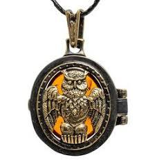 Подвеска «Медальон Филин» AM-1745 | Филины, Медальоны и ...