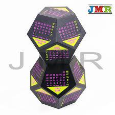 creative calendar. Brilliant Creative Creative Calendar Digital Dice2pcs Of Big Polyhedral Dice D12 With  Colorful Yellow Solar Throughout C