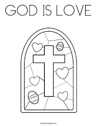Love Coloring Pages Stained Glass With Cross Coloring Page We Love
