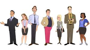 A brilliant artist reimagined characters from The Office as cartoons