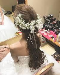 結婚式のお色直しで人気のダウンスタイルのブライダルヘアまとめ Marry