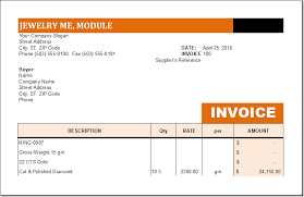 Customer Invoice Template Excel Extraordinary MS EXCEL Jewelry Invoice Template EXCEL INVOICE TEMPLATES