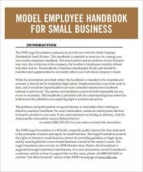 Sample Employee Handbooks Template For Employee Handbook Free Printable Schedule