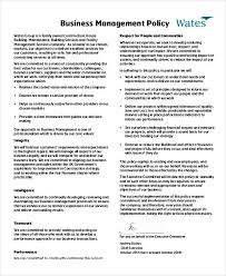 business policy example business policy template 9 free pdf documents download free