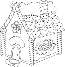 Coloring Pages Gingerbread House Coloring Pages Printable Activity