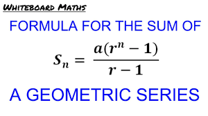 derivation of the formula for the sum of a geometric series