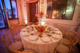 biennale dinner palazzorocca roundtable setup 15 16 sep 2017