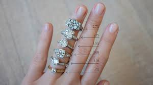 Real Size Diamond Carat Chart Diamond Size Chart On Hand Erstwhile