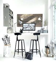 alcove office. Counter Height Office Desk Standing Workspace Built Into A Corner Or Alcove N
