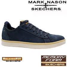 skechers memory foam mens. mens skechers leather relaxed fit memory foam walking ankle trainers shoes size skechers memory foam mens