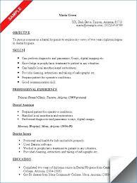 Sample Dental Assistant Resume Objectives Igniteresumes Com