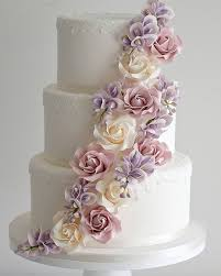 Classic 3 Tier Wedding Cake With Elegant Sugar Flowers Cakes 11
