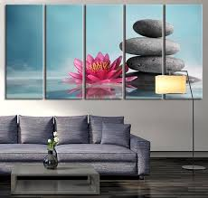 extra large wall art lotus flower and stones canvas print zen yoga relax wall art on lotus flower canvas wall art with extra large wall art lotus flower and stones canvas print zen yoga
