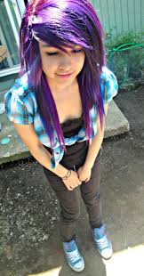 Emo Girl Hair Style Purple Color Hairstyle For Emo Girls Hairzstyle Hairzstyle 4374 by wearticles.com