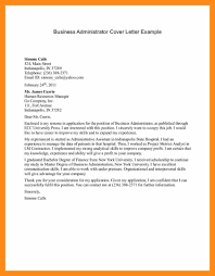 Business Administration Cover Letter Examples Gallery - Cover ...