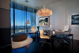 Fancy home office Luxury Brilliant Home Office Idea For Comfy Working Place Fancy Home Office Overloking Natural View Stepinit Office Workshope Designs Coordinated Office Interior Design