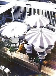 foot auto tilt umbrella white black and outdoor striped patio