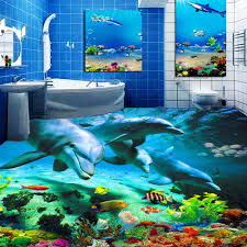 Ocean Wallpaper For Bedroom Aliexpresscom Buy Custom 3d Floor Wallpaper Ocean World Dolphin