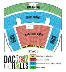 Dac The Halls With David Archuleta Seating Map Davis Arts