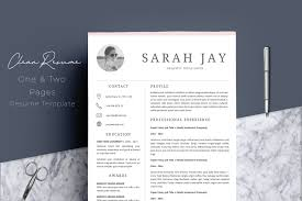 Resume Template 4 Pages Clean Resume Templates Creative Market Pro