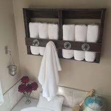 diy towel storage. 24 Beautiful DIY Bathroom Pallet Projects For A Rustic Feel (23) Diy Towel Storage I