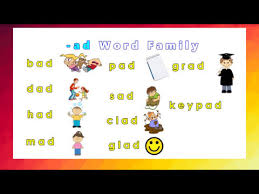 Word With Ad Word Families For Kids Flashcards Learn Ad Word With Pictures And