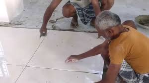 How To Tile A Bathroom Floor Video Kajaria 800x800 Tiles Laying With Spacer Youtube