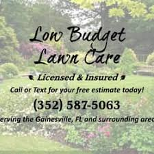 Budget Lawn Care Low Budget Lawn Care Landscaping Gainesville Fl United
