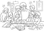 Раскраски для детей в школе